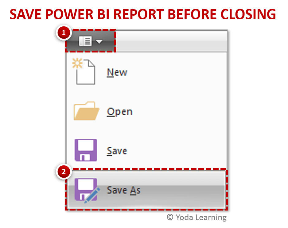 Save Power BI Report Before Closing