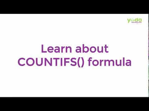 Learn About COUNTIFS() formula
