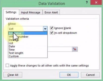 Data Validation-List