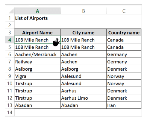 Select the data, Remove duplicate in excel