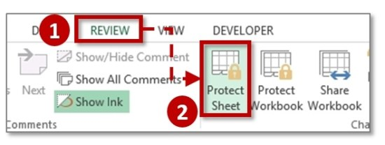 Review-Protect-Sheet-Unprotect-Excel