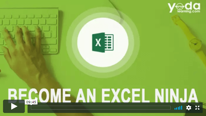 Advanced Excel Ninja Course