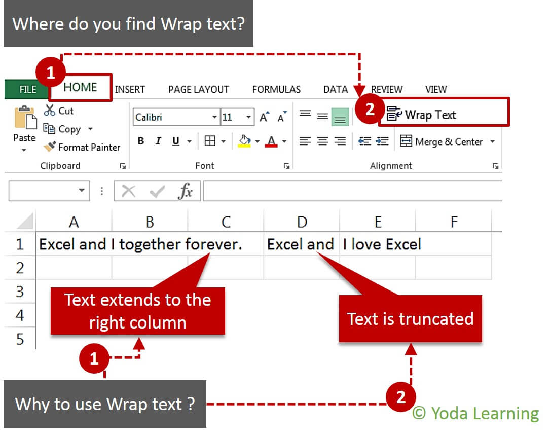 Where and Why to use Wrap text