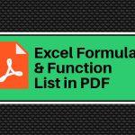 Excel Formula PDF
