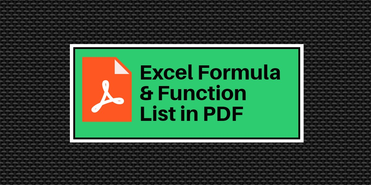 Excel function excel formula pdf learn excel tips tricks ibookread PDF